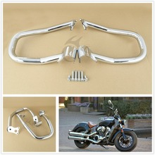 Chrome Engine Guard Highway Crash Bar Kit For Indian Scout 2015-2018 Sixty 2016-18 Bobber 18 Repl. 2881756-156
