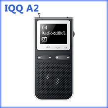 IQQ A2 reproductor de mp3 con altavoz 1.8 En 100 Horas reproducción con Radio FM, Grabadora de Voz, E-libro mp 3 Es Compatible Con Ranura Para Tarjeta TF