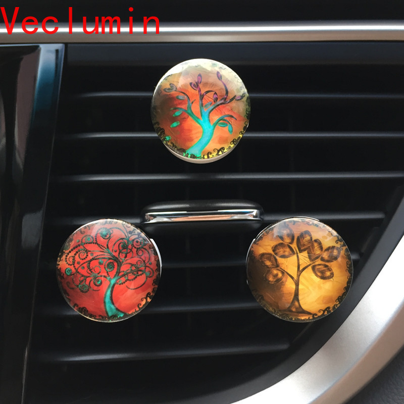Tree Of Life Car Diffuser Flavoring For Car Air Fresheners Fragrances Auto Perfume 2018 New Car Vent Clip Aroma Car Scent Decor
