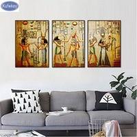 3pcs set Diamond Embroidery,Egyptian Diamond Painting Cross Stitch,3d picture,Diamond Mosaic,home Decoration