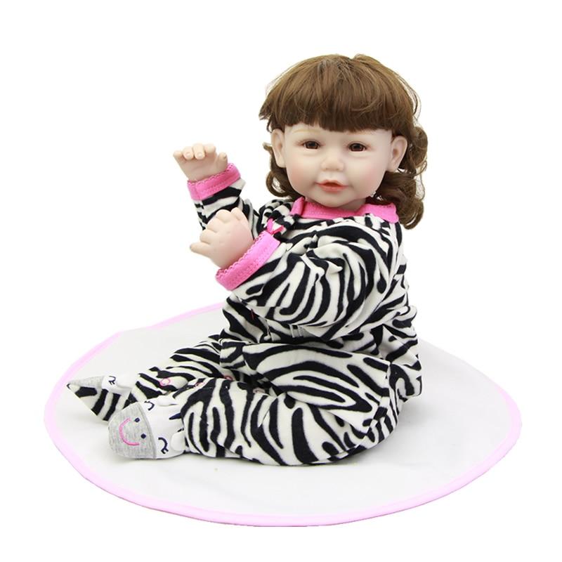 New Reborn Baby Dolls 20 Inch Cloth Body Silicone Vinyl Princess Girl Babies Lifelike Children Toy Kids Birthday Xmas Gift