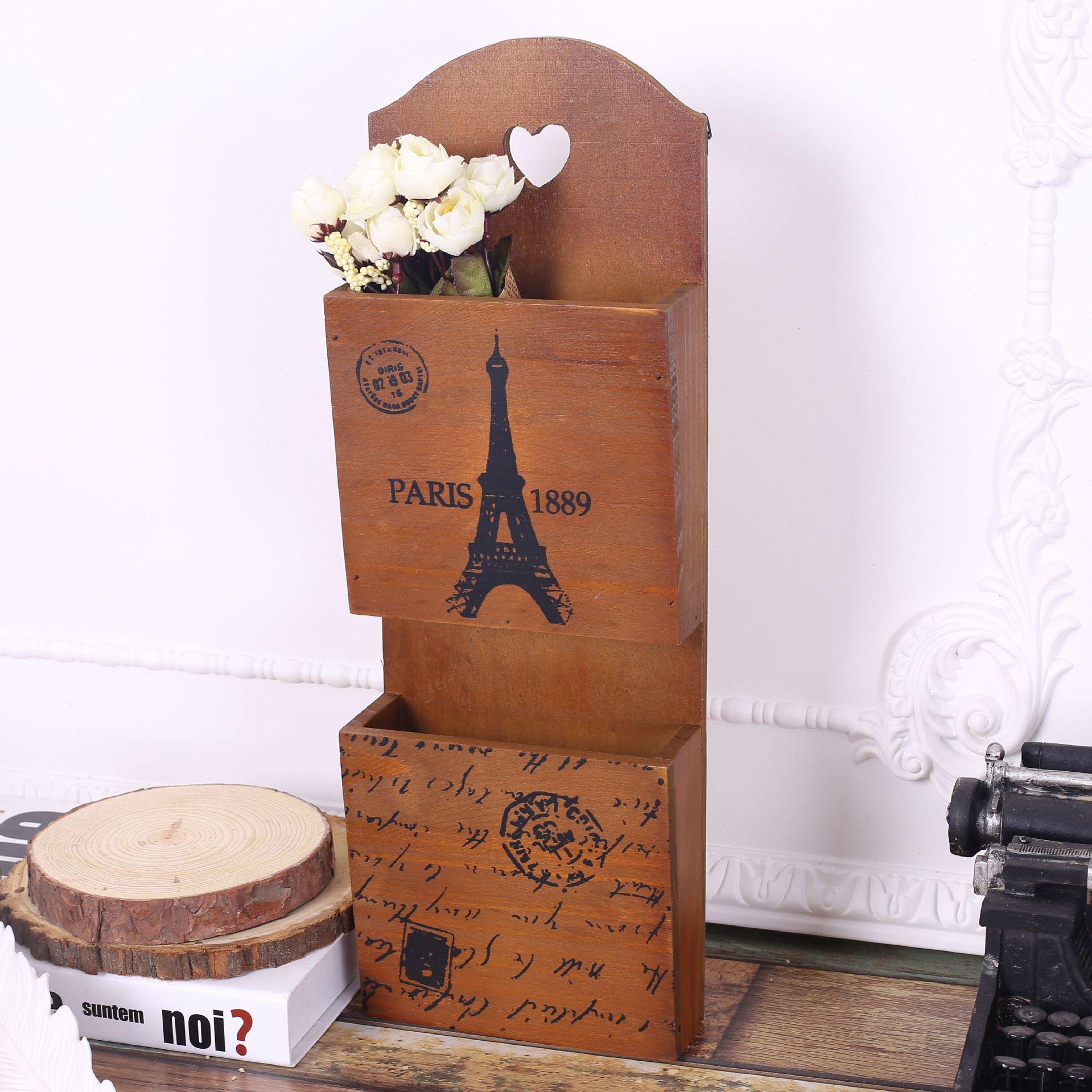 Home Decor Storage Boxes: Zakka Retro Style Wood Storage Box Hanging Wall Crafts