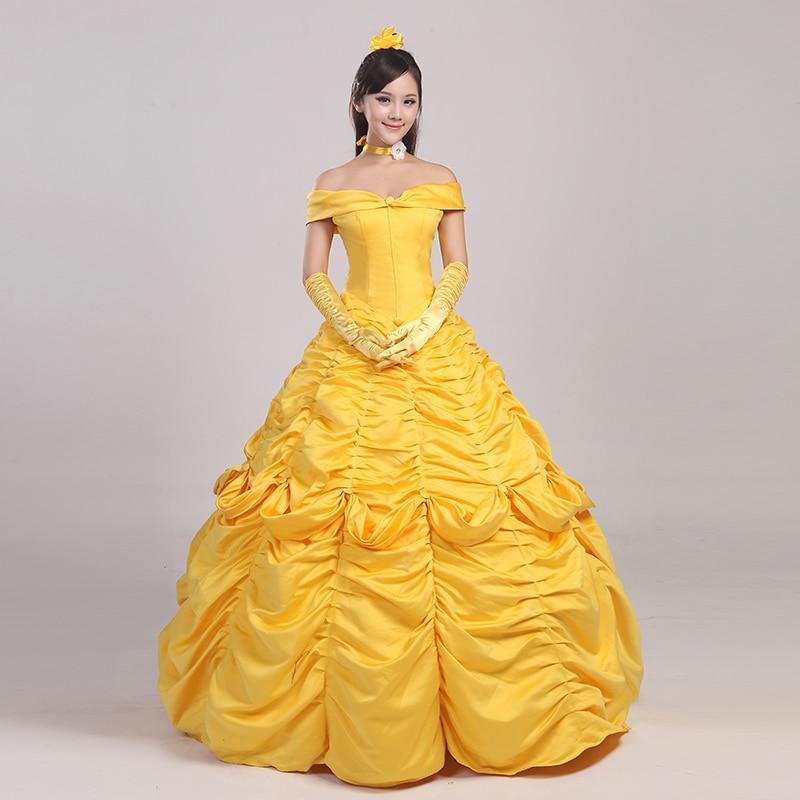 D'halloween Pour Costume Princesse Adulte Robe Costumes Belle Femmes 6g7vbfyIYm