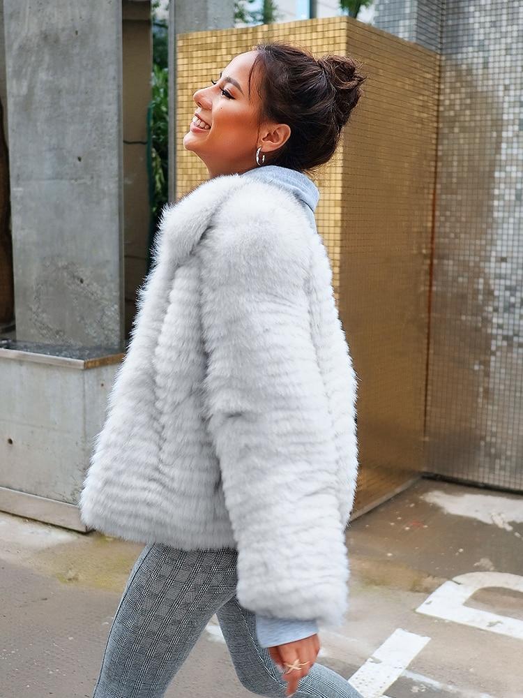 Coréen Vestes De Double Hiver Femme Manteau My962 Automne 2018 White Fourrure Veste face Vêtements Femmes Renard Réel x1wU7qnCx