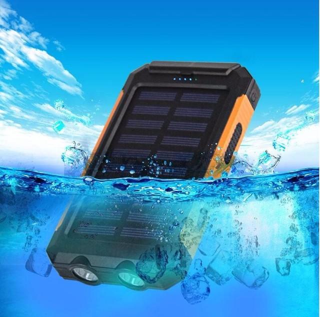 Irepie solar powerbank 12000 mah carga de la batería a prueba de agua con led universal brújula al aire libre banco de la energía para iphone 6 s 7 xiaomi