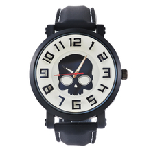 FUNIQUE Harajuku  Skull Watch For men Japanese Men's Wrist Watch Students Silicone Strap Blue Gray Glass Watch Quartz