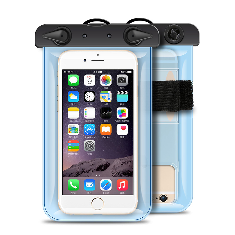Waterproof Pouch 6.0Inch Iphone Android With Arm Band ABS Swimming Diving Anti-Water Bag For Mobile Phone 4 Clear Color