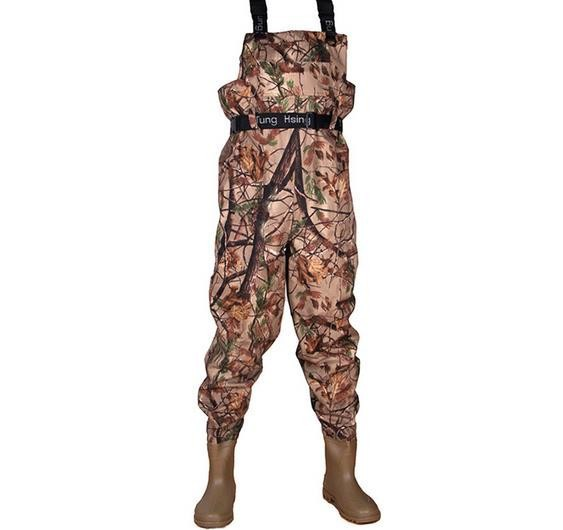 Size 42 Fishing Pants <font><b>boot</b></font>-foot fishing waders Stocking Foot Fly Carp Tall Over The Knee High Buckler Rain <font><b>Boots</b></font>