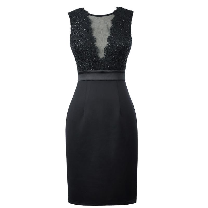 Катя касин элегантные короткие платья для выпускного вечера 2018 рукавов V-обратно вечерние карандаш платье женский, черный облегающее вечернее торжественное платье 1071