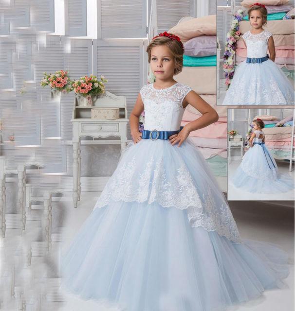 e9f1d6d76 Mermaid Flower Girl Dresses for Wedding Ankle-Length Mother Daughter Wedding  Dresses Ball Gown First Communion Dresses for Girls