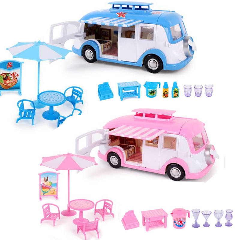 Peppa Pig George Toys Car Dining Car Spring Tour Action Figure Original Anime Toys For Children Family Party Dolls Birthday Gift