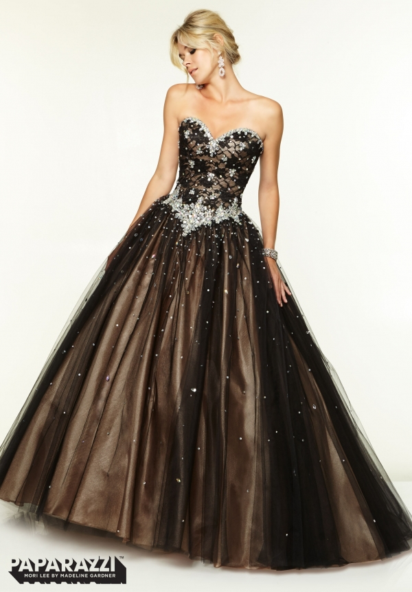 Latest Design Ball Gown Prom Dress 2015 Sweetheart Top