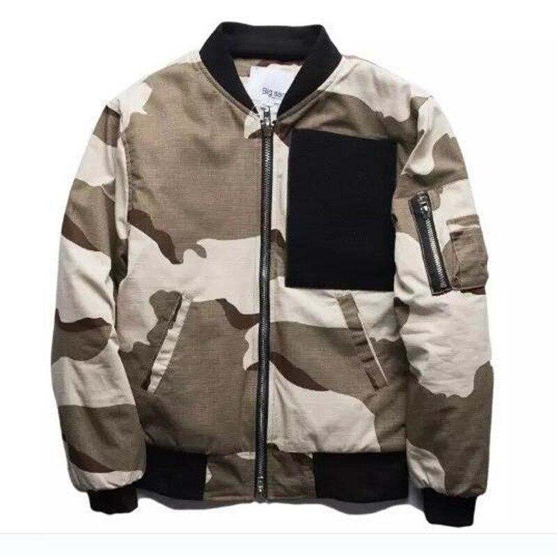 2017 hommes Jaket hiver marque Hip Hop vestes haute rue veste Camouflage chaud manteau Ma1 Bomber veste militaire Camouflage veste