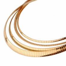 3/4/6/8MM Stainless Steel Flat Choker European Necklace For Fashion Women Men Choker Collar Necklaces Jewelry Gold Chain 18inch