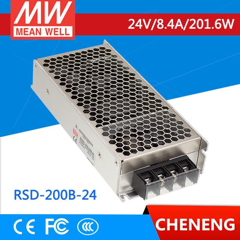 MEAN WELL original RSD-200B-24 24V 4.2A meanwell RSD-200 24V 201.6W Railway Single Output DC-DC Converter