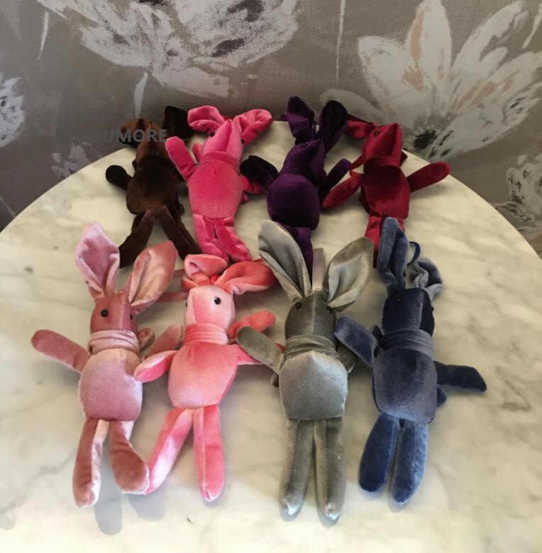 Kaaii 8 Colors,-18 سنتيمتر الأرنب الملونة محشوة لعبة طفل, ألعاب من نسيج مخملي دمية; حفلة زفاف للأطفال هدية ألعاب من القطيفة