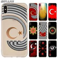 MLLSE Turkey Red Flag Silicone Case FOR iPhone compatible 10 X XS Max XR For iPhone 5 5S SE 6S 6 4 4S 7 8 Plus(China)