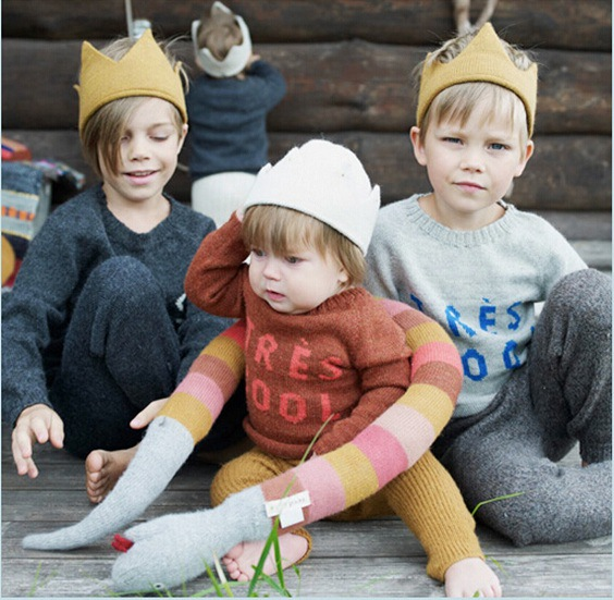 09b6aa7bd15 Hot and nice design Woolen Yarn Cute Baby Boys Girls Crown Knit Headband  Hathair accessories hat tiaras infantil MUQGEW BABY-in Hats   Caps from  Mother ...
