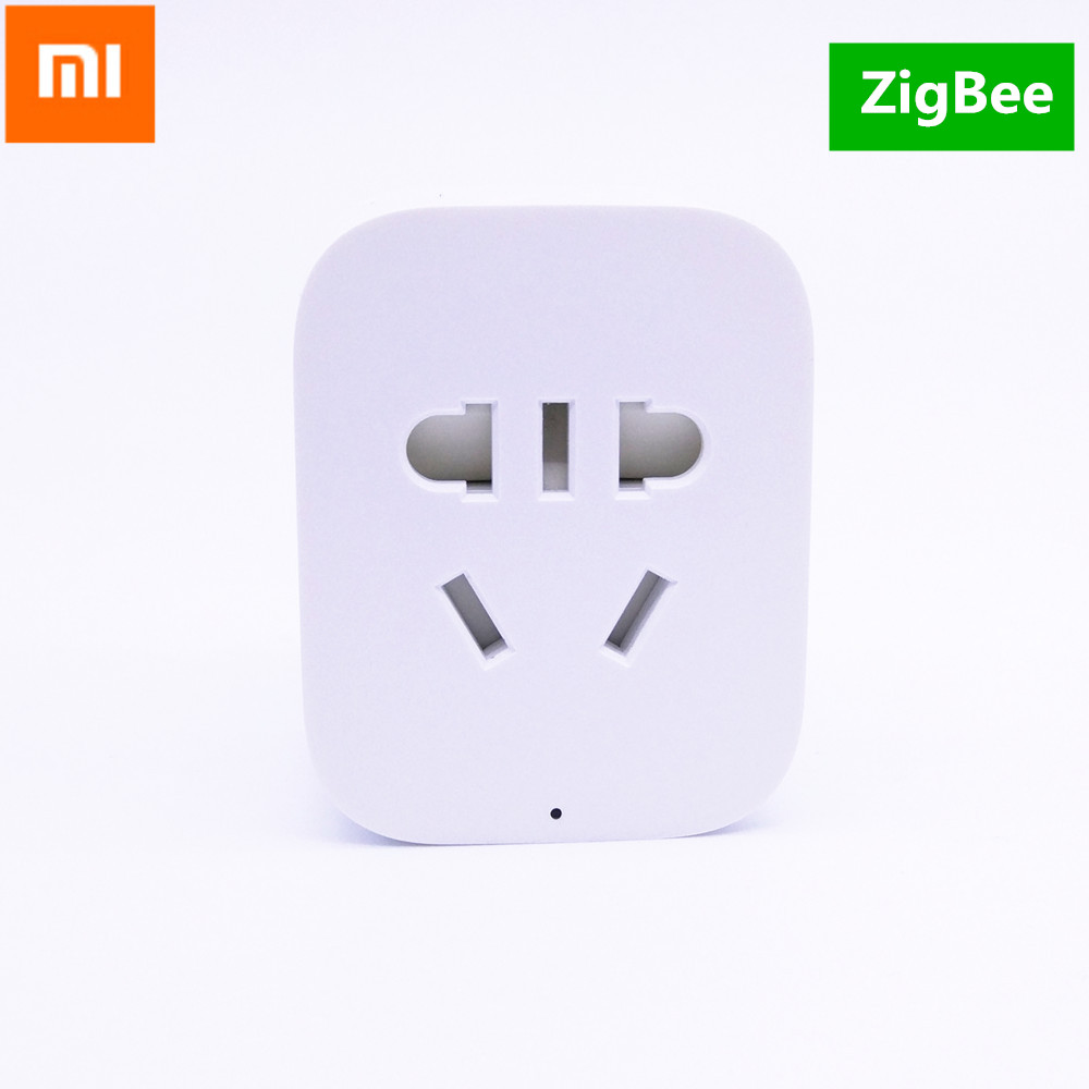 Original Xiaomi Zigbee enchufe inteligente Wifi Control remoto temporizador cargador inalámbrico US EU UK enchufe para Andriod