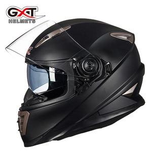 Image 1 - Winter Weiß dinosaurier GXT Doppel objektiv Volle Gesicht moto rcycle Helm, männer moto moto rbike helm mit Integrierten objektiv kann versteckte