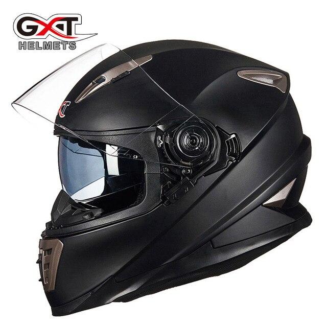 Winter Weiß dinosaurier GXT Doppel objektiv Volle Gesicht moto rcycle Helm, männer moto moto rbike helm mit Integrierten objektiv kann versteckte