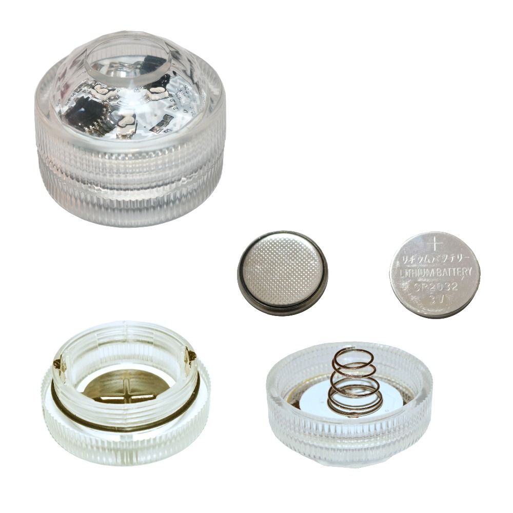 Fast Delivery 20pcs Led Coin Battery Operated Submersible Mini Lights Indoor Output 3w Bulb Lamp For Swimming Pool In Holiday Lighting From