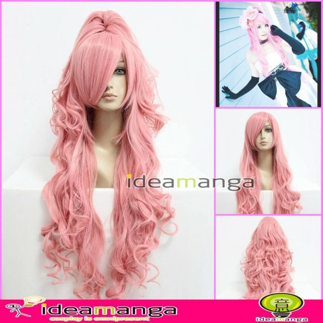 Manga Amime V+ Vocaloid Megurine Luka Cosplay 3rd Hair Wig High-temperature Resistance Fibers halloween
