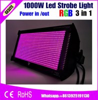 Free Shipping 1000W Led Strobe Light Professional Led Stage Lighting Brighter Than Old ATOMIC 3000 DMX512