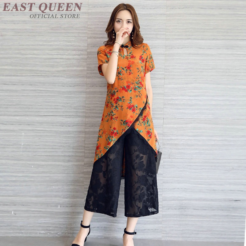 43c992a77b Womens two piece sets 2018 traditional chinese clothing for women FF900