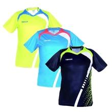Nowy TIBHAR tenis stołowy Koszulka stołowa T Koszulki do meczu Krótki rękaw sportowe koszulki 014111A tanie tanio Unisex Pasuje do rozmiaru Weź swój normalny rozmiar
