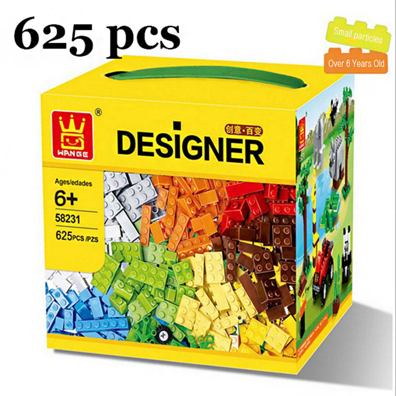 625 Pcs Building Blocks City DIY Creative Bricks Toys For Child Educational Wange Building Block Bricks Compatible With Lego lepin 02012 city deepwater exploration vessel 60095 building blocks policeman toys children compatible with lego gift kid sets