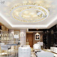 Free Shipping Home Furnishing Lighting LED Lighting With Remote Control Room Round Crystal Ceiling Lamps