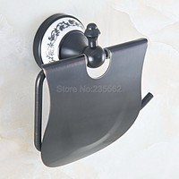 Toilet Paper Holder Bathroom Paper Tissue Holder Black Oil Rubbed Brass Bathroom Accesseries Roll Paper Holders lba754