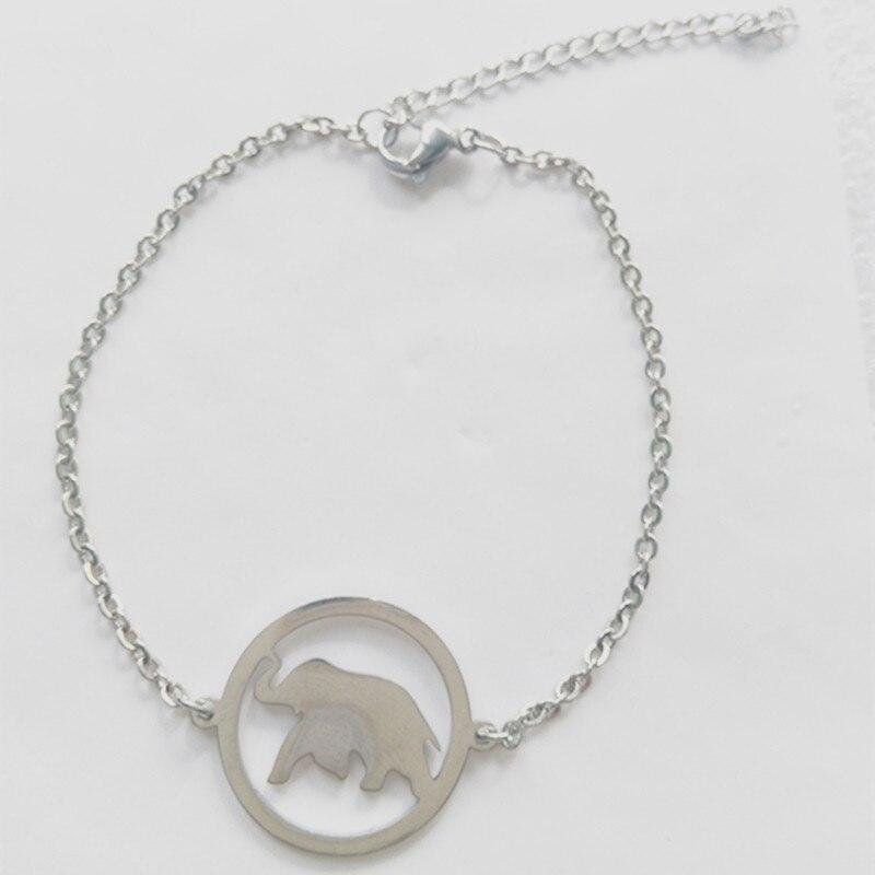 8dfeefb4fd488f Silver Color Charms Bracelet Femme Stainless Steel Women Dainty Jewelry  Lucky Origami Elephant Bracelets Friendship Gifts BFF-in Charm Bracelets  from ...