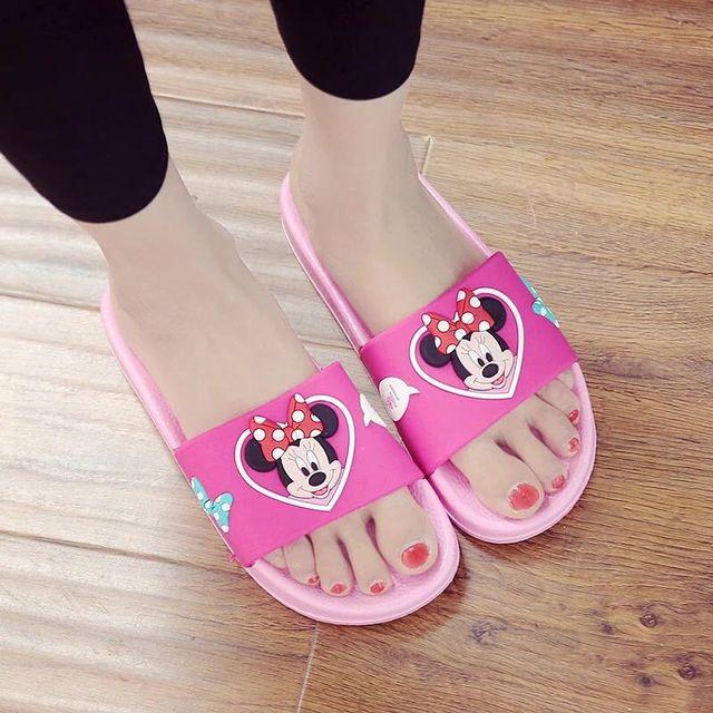 67e84584804 2019 new Disney children slippers cartoon Mickey anti-slip bathroom home  shoes summer fashion men
