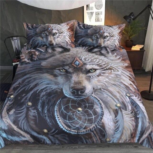 Волк воин сунима постельное белье 3D набор пододеяльников для пуховых одеял дома текстиль роскошные европейские линии печатные постельные принадлежности s кашне постельное белье