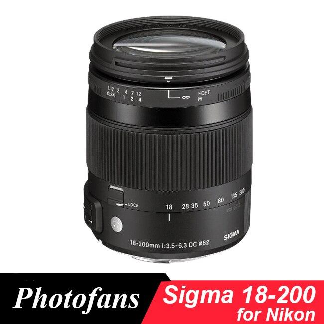 Objectif Sigma 18-200mm pour Nikon 18-200mm f/3.5-6.3 DC Macro OS HSM objectif pour D3200 D3300 D5200 D5300 D5500 D5600 D7100 D7100Objectif Sigma 18-200mm pour Nikon 18-200mm f/3.5-6.3 DC Macro OS HSM objectif pour D3200 D3300 D5200 D5300 D5500 D5600 D7100 D7100