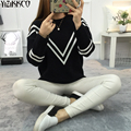 2016 Winter Women Sweater New Fashion Computer Knitted Pullovers Striped Sweaters 4 Colors Pull Femme Sweter Mujer SZQ011
