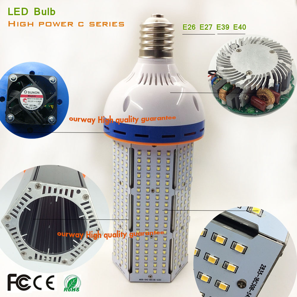 Shenzhen super power SMD 2835 corn light for street/garden/outdoor 10000lm 80w 100w 120w led corn bulb lamps E39 E40 LED light free shipping e26 e39 100w led corn bulb for post light fixture with etl listed