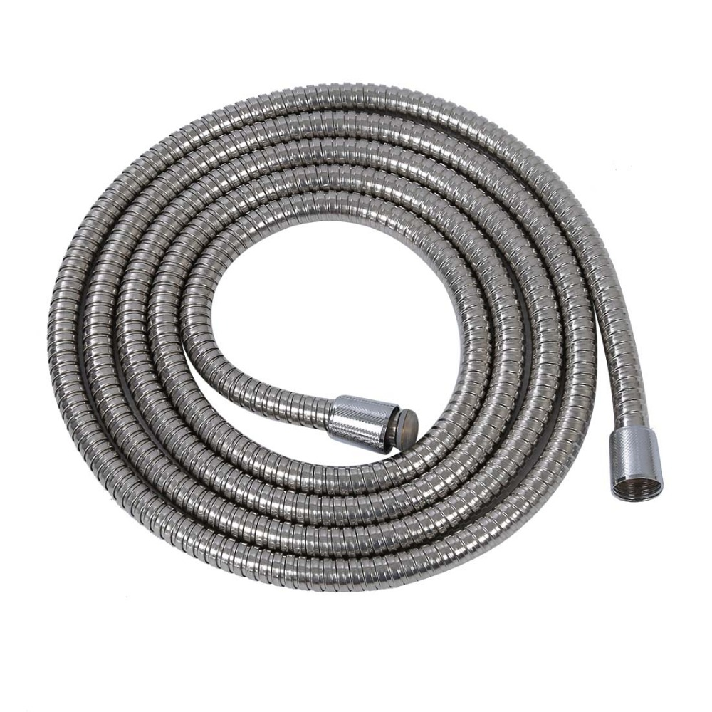 1 PC 3m Common Flexible Long Hose Pipe Stainless Steel 1/2 Bath Shower Head Flexible Bathroom Water Pipe Silver Wholesale stainless steel contemporary style shower water hose silver 1 5m