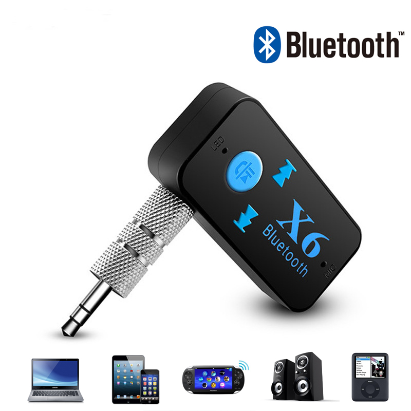 3.5mm Jack Car Kit AUX Bluetooth Audio Receiver Hand-Free MIC Call Bluetooth Adapter 4.0 Car Speaker Auto TF Card Music Receiver
