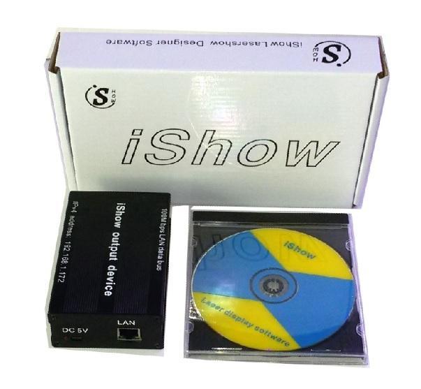 iShow V3.0 Ethernet Stage Laser Light Software 64 bit and USB To ILDA Box for stage laser