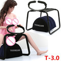Sex Chair TOUGHAGE 56*49*39cm Weightless Sex Seats with Pillow and Handrail Sex Toys Sex Furniture for Couples E5-1-11