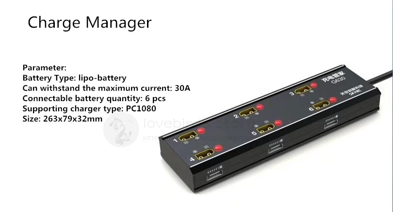 6 output 6S lipo-battery charge steward Agricultural drone intelligent charge management system for PC1080 6S lipo/LIHV charger цены