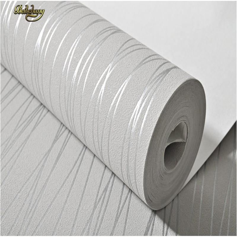 Купить с кэшбэком beibehang Vertical Stripe Wallpaper Roll Modern Murals Non-woven Flock Printing Wall Paper Backdrop Living Room .papel de parede