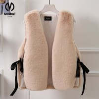 MUMUZI Women Faux Fur Coats 2017 Winter Women S Thick Warm Faux Fox Fur Vest Fashion