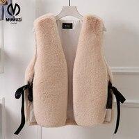 MUMUZI Women Faux Fur Coats 2017 Winter Women S Thick Warm Faux Fox Fur Vest Fashion