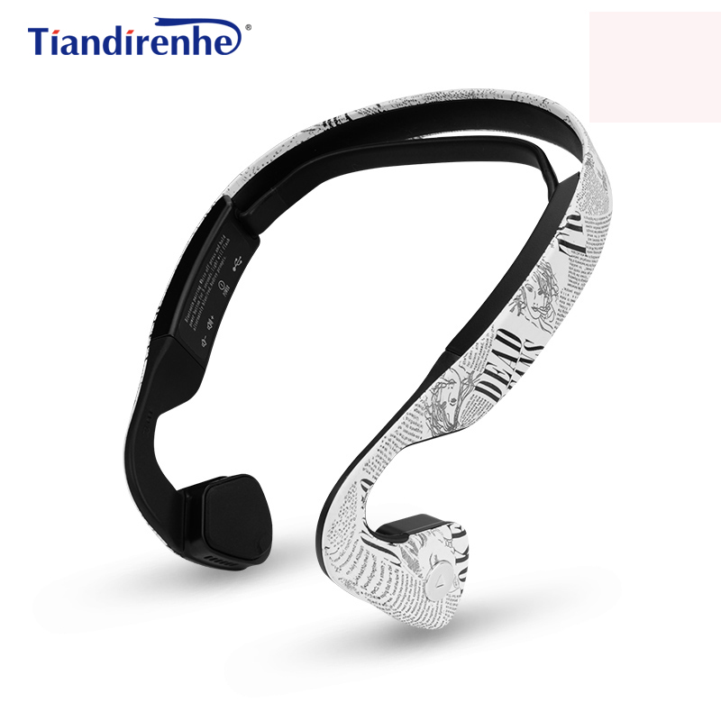 Newest Bone Conduction Bluetooth Headphone Sports Headset Stereo Bass Earphone with Microphone USB Wireless Headphones 2018 wireless headset foldable bluetooth headphone stereo wireless earphone microphone bluetooth earphone bluetooth headphones