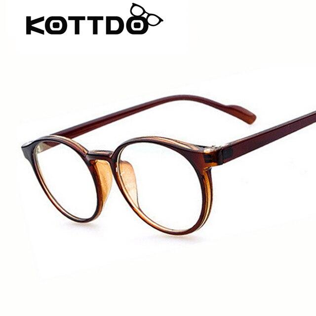 c5106de5f1978 Retro vitage marca moldura redonda óculos simples para homens mulheres  optical miopia olho óculos de armação