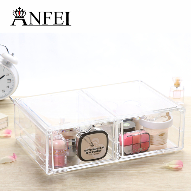 Aliexpresscom Buy Home Storage Container 2 Drawers Acrylic Makeup